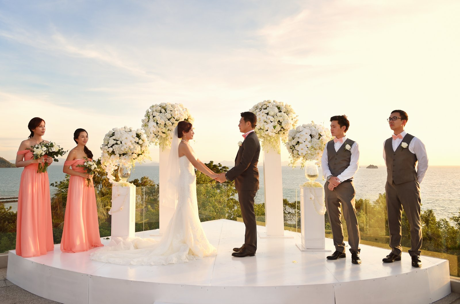 Beautiful wedding ceremony in Koh Samui, Thailand