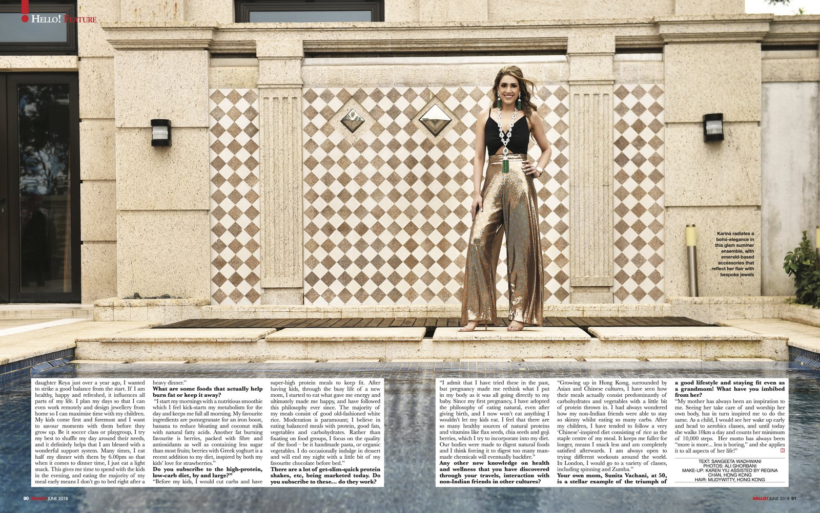 Karina Buxani Hello Magazine India - Ali G - Magazine photographer
