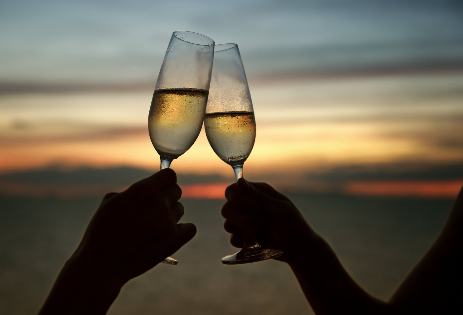 Cheers with Champagne classes on the beach in Hua Hin, Thailand